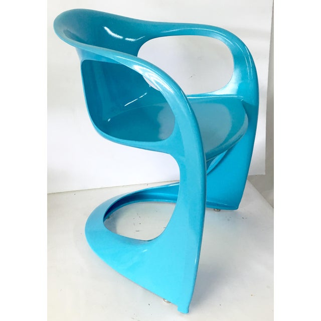 70's German Molded Organic Form Lacquered Armchair - Image 4 of 8