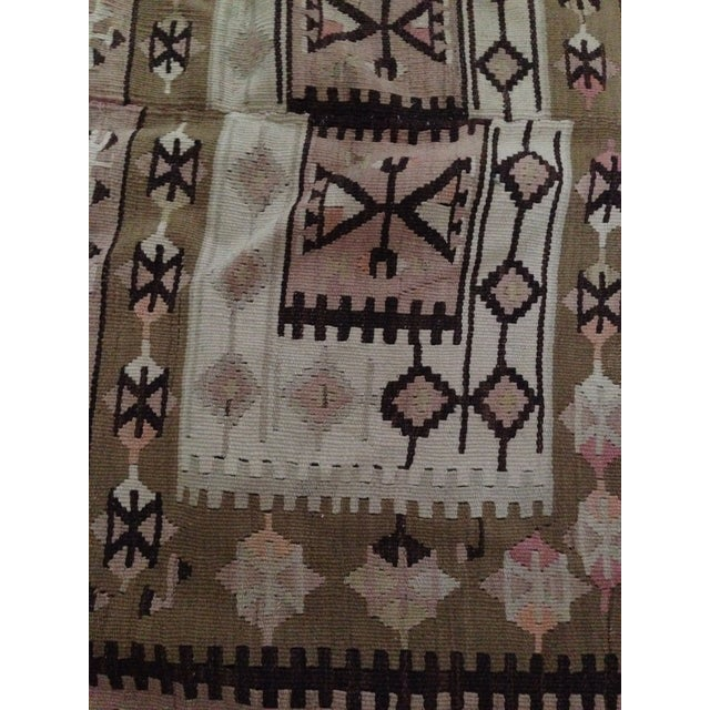 Turkish Kilim Rug - 5′3″ × 8′9″ - Image 4 of 6