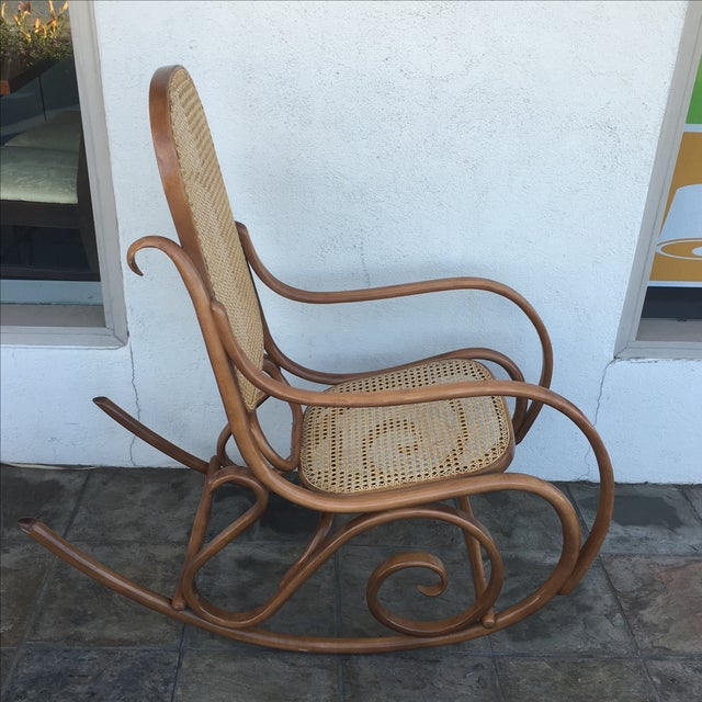 thonet bentwood rocking chair chairish