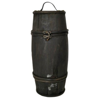Rustic Wood Barrel