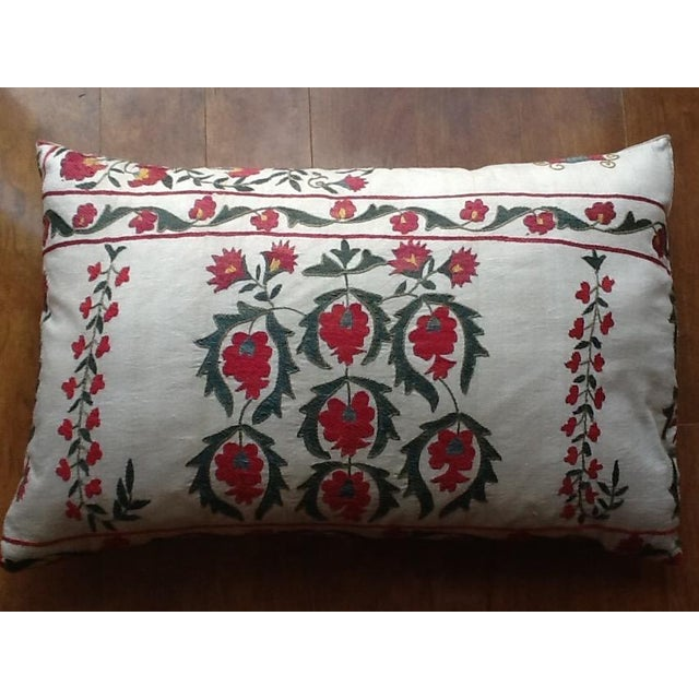 Large Silk Embroidered Pillow - Image 2 of 9