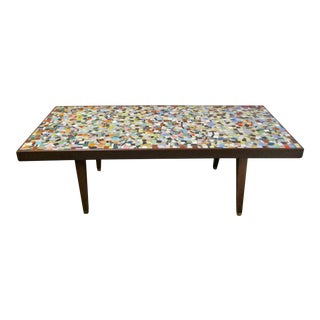 1960's Mosaic Tile Top Coffee Table