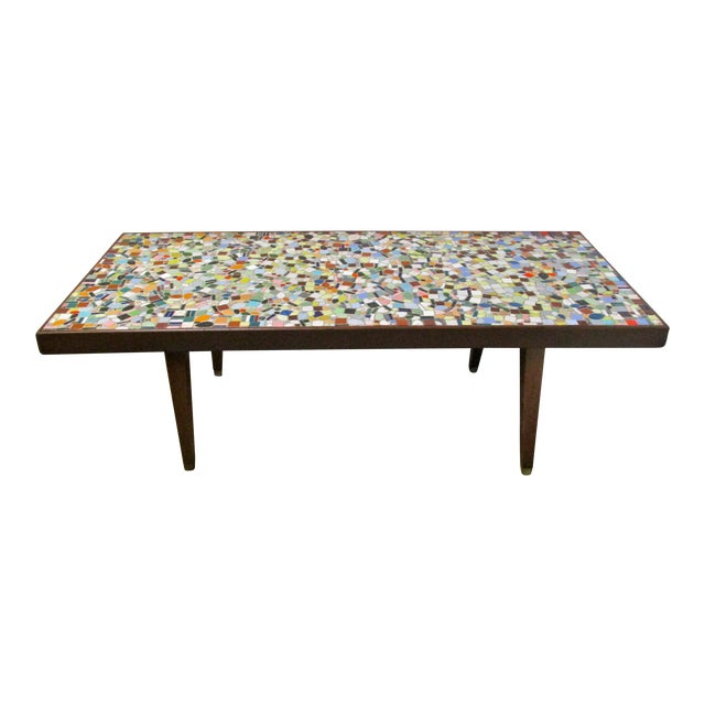 1960 39 S Mosaic Tile Top Coffee Table Chairish