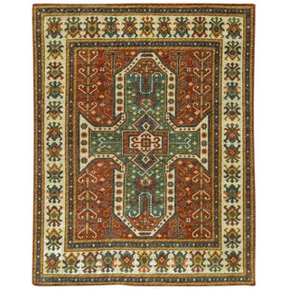 Caucasian Style Hand Woven Rug - 8' X 9'9""