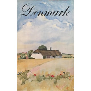 1948 Vintage Danish Impressionism Travel Poster