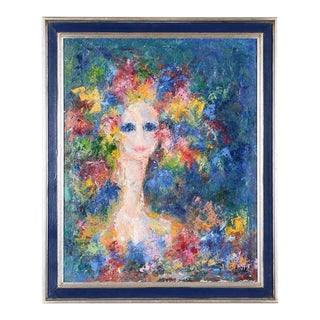 Lady Spring -Oil Painting on Canvas- Surrealism -Signed