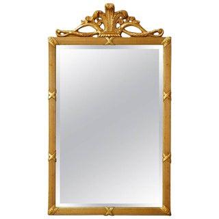 Louis XVI Style Giltwood Beveled Mirror