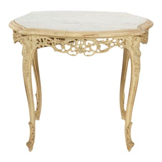 French Louis XV Style Marble Top Gueridon Table, 20th Century