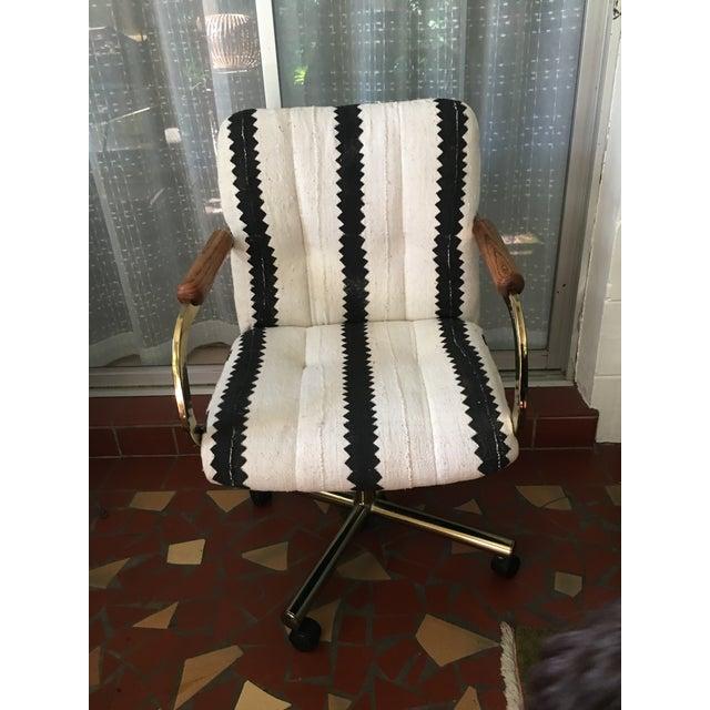 Black & White Desk Chair - Image 2 of 9
