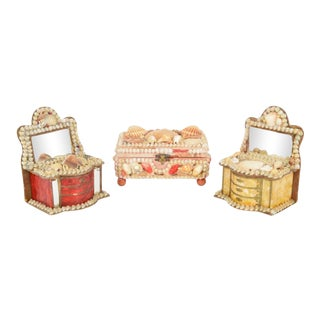 Victorian Shell Boxes- Set of 3