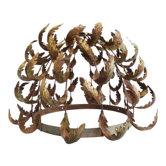 Vintage Metal Leaf Chandelier Frame - Image 1 of 6