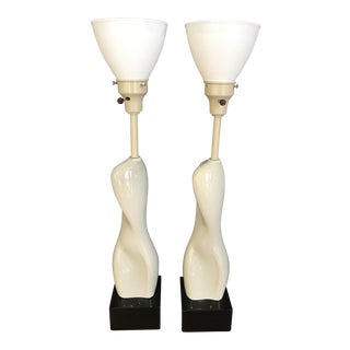 Russell Wright Nude Form Lamps - A Pair
