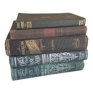 Collected Antique Books - Set of 5