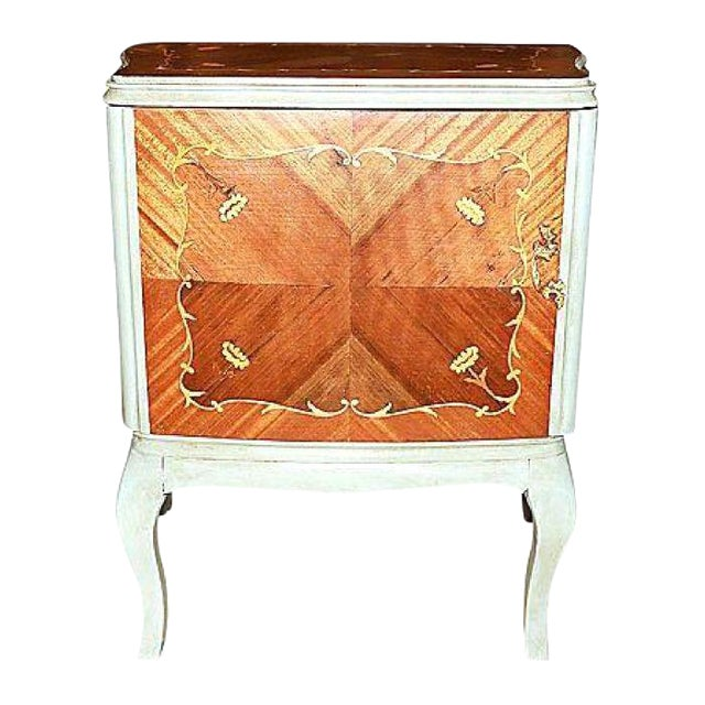 Louis xv inlaid night stand or end table chairish for Table stand i 52 compose