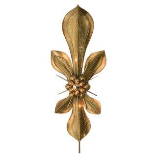 Brass Fleur-de-lis Sconce