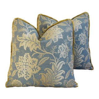 Designer GP & J Baker Lismore Damask Pillows - A Pair