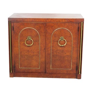 Burl Walnut & Brass Cabinet