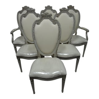 Swedish Royal Gustavian Dining Chairs - Set of 6