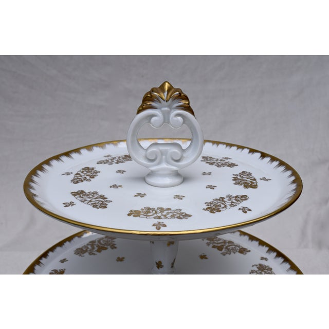 Image of Limoges 2 Tier Dessert Server