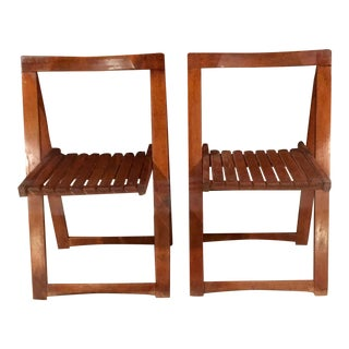 Mid-Century Romanian Folding Chairs - Pair