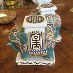 Image of Chinese Pottery Elephants - A Pair