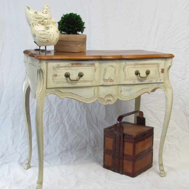 Rustic Painted French Console Table Chairish
