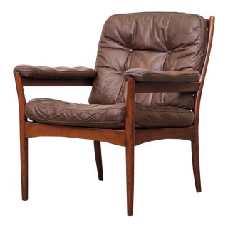 Arne Norelle Style Leather Chair