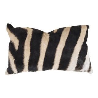 "Zebra Hide Baguette Pillow 13x21"""
