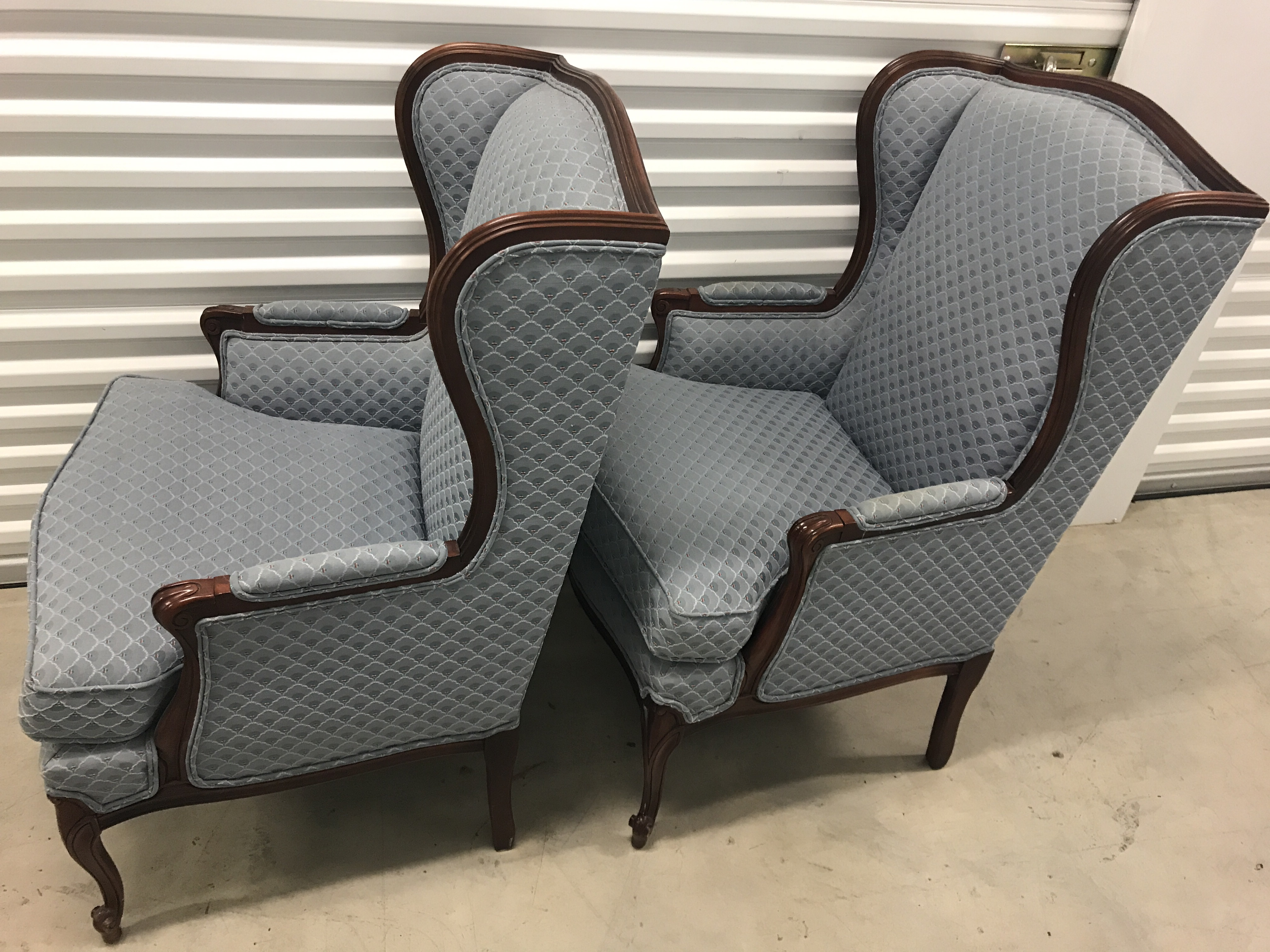 Thomasville Wingback Chairs   A Pair   Image 3 Of 7