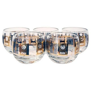 Roly Poly Style Glasses by Culver - Set of 5