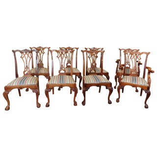 Chippendale Mahogany Dining Chairs - Set of 8