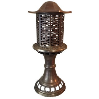 Large Pagoda Brass Table Lamp