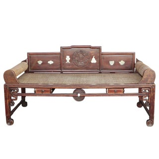 Chinese Carved Opium Daybed