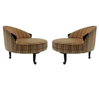 "1950 Adrian Pearsall Pair of Round ""Havana"" Chairs"