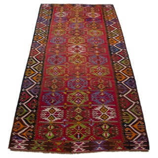 Turkish Kilim Handwoven Anatolia Rug - 5′5″ X 9′10″