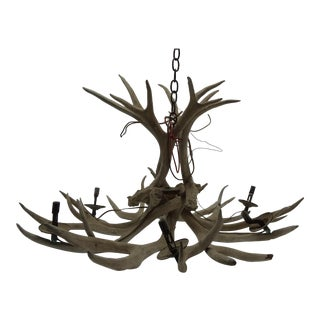 Vintage 6-Light Antler Chandelier