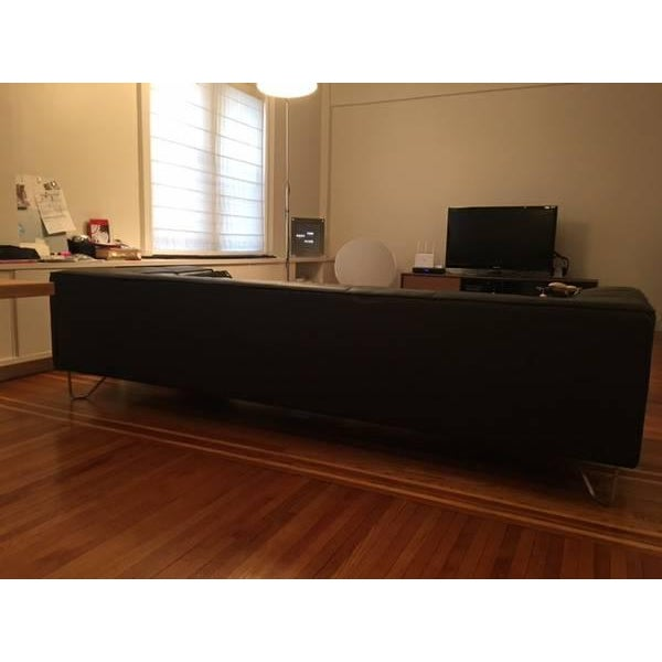 BoConcept Black Leather Sofa - Image 4 of 5