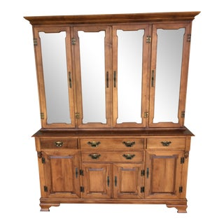 Tell City 2-Piece Maple Country Hutch