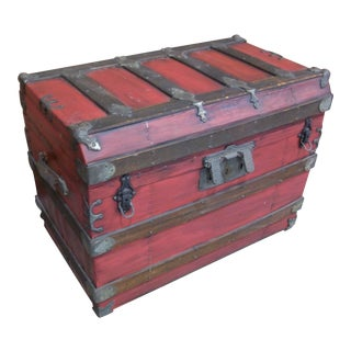 Antique Steamer Storage Trunk