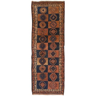 Vintage Shiraz Wool Area Rug - 4' X 11'7""