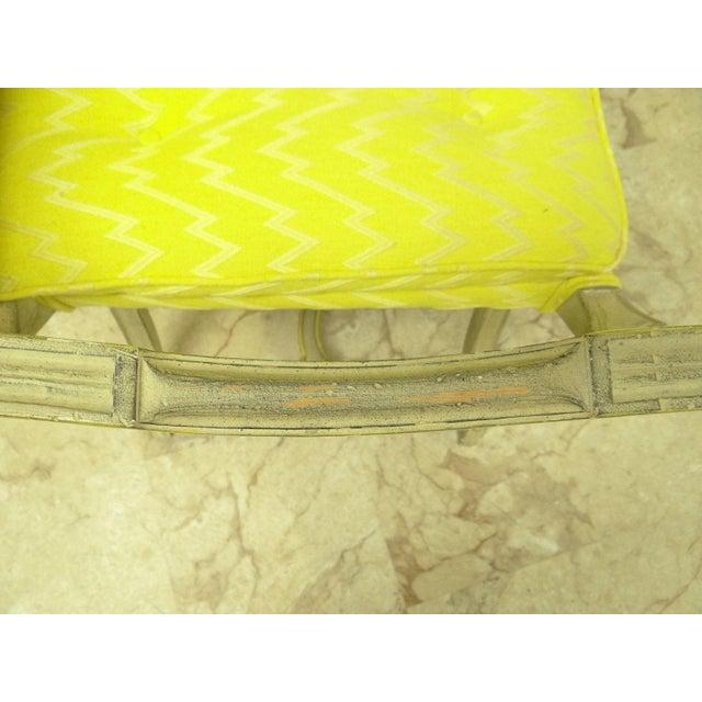 Vintage French Regency X Base Louis XV Settee Love Seat Recamier - Image 10 of 11