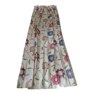 Floral Osborne and Little Linen Curtains - a Pair