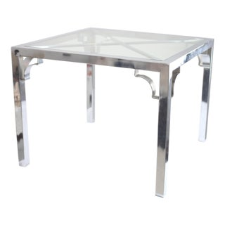 Maison Jansen Style Chrome Side Table