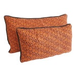 Image of Custom Orange Pattern Pillows - a Pair