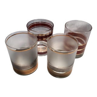 Set of 4 Culver Mid-Century Modern Lo-Ball Glasses