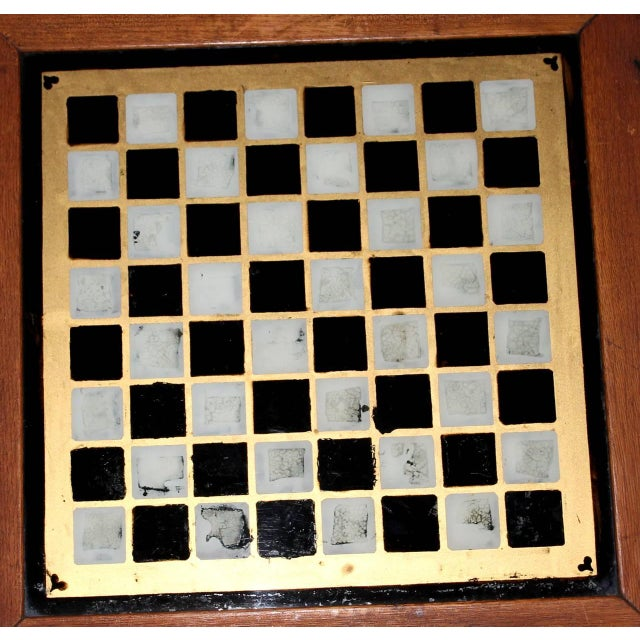 19th Century all Original Reverse Painted Gameboard with Hearts from Arkansas - Image 5 of 5