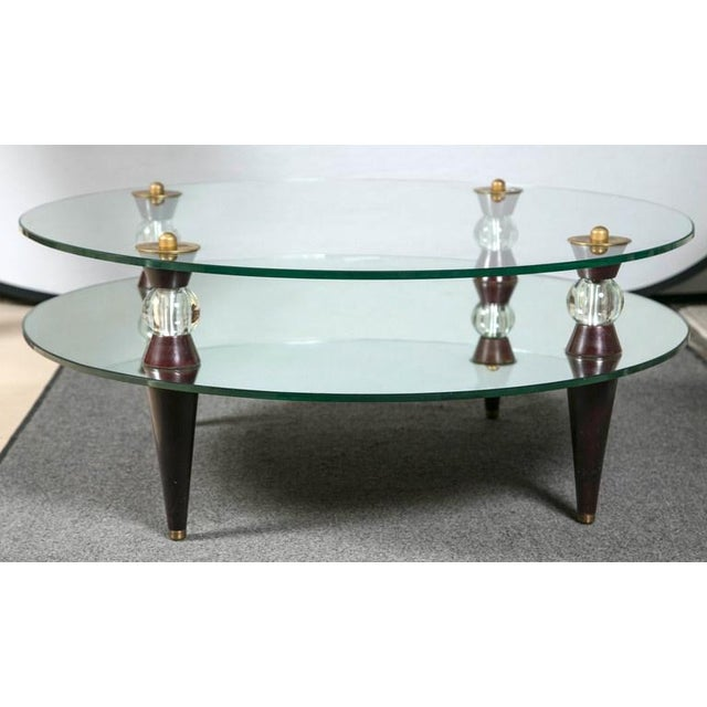 Art Deco Glass Mirror Coffee Table Chairish