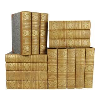 Art Deco Leather-Bound Books - Set of 15