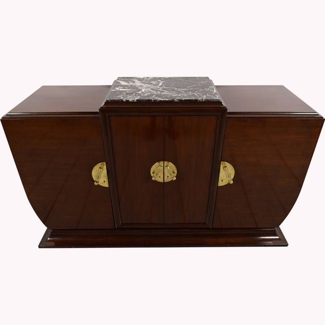 1930's French Art Deco Mahogany Buffet - Image 2 of 10