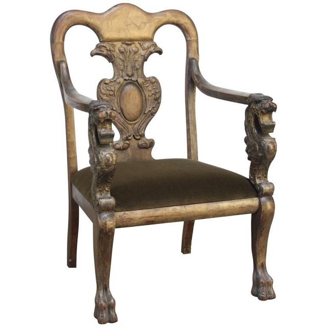 Majestic Odd Fellows Carved and Painted Armchair - Image 3 of 11